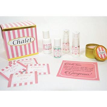 Chalet Skin Care Starter Set for Sensitive Skin includes coconut cleanser, toner sensitive skin, natural moisturizer sensitive skin, eye serum