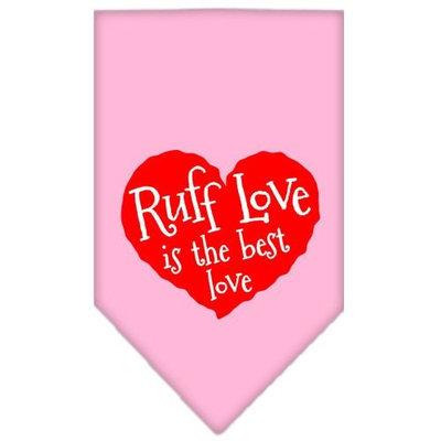 Ahi Ruff Love Screen Print Bandana Light Pink Small