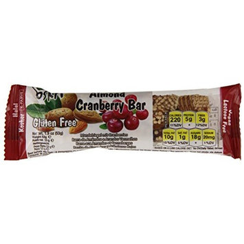 Oskri Almond and Cranberry Bar, 1.9-Ounce (Pack of 20)