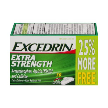 Novartis Excedrin Extra Strength Pain Reliever Caplets - 24 Count