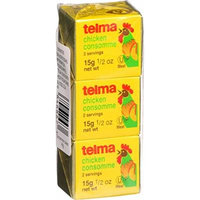 Telma Stock Cubes - Consomme - Chicken - 3 Count - .5 oz - Case of 12
