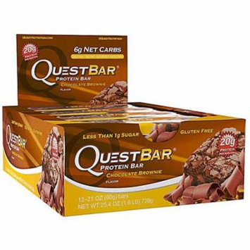 Quest Nutrition QuestBar Protein Bar Chocolate Brownie -- 12 Bars pack of 1