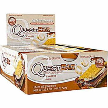 Quest Nutrition QuestBar Protein Bar S'Mores -- 12 Bars pack of 3