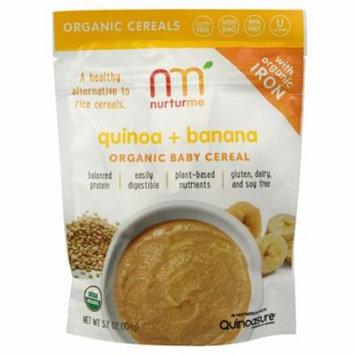 Nurturme Organic Baby Cereal Quinoa Banana -- 3.7 oz pack of 12