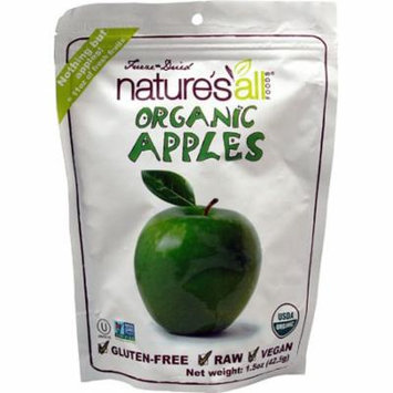 Nature's All Foods Organic Freeze-Dried Apples -- 1.5 oz pack of 3