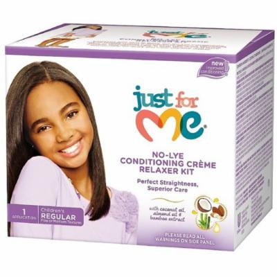 4 Pack - Just For Me No-Lye Regular Conditioning Creme Relaxer Kit 1 ea