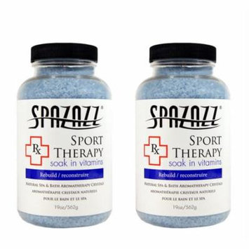 Spazazz Aromatherapy Spa and Bath Crystals- Sport Therapy (2 Pack)