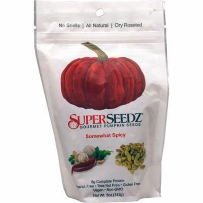 SuperSeedz Gourmet Pumpkin Seeds Somewhat Spicy -- 5 oz pack of 4