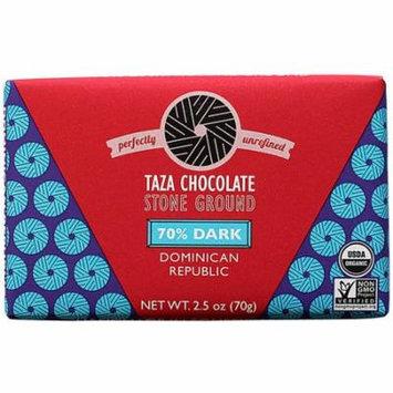 Taza Chocolate Organic Stone Ground Chocolate 70% Dark -- 2.5 oz pack of 6