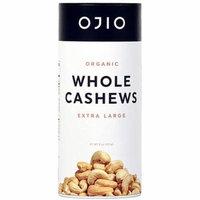 Ojio Gluten Free Organic Whole Cashews -- 8 oz pack of 2