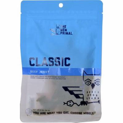The New Primal Classic Beef Jerky Natural Smoke -- 2 oz pack of 12