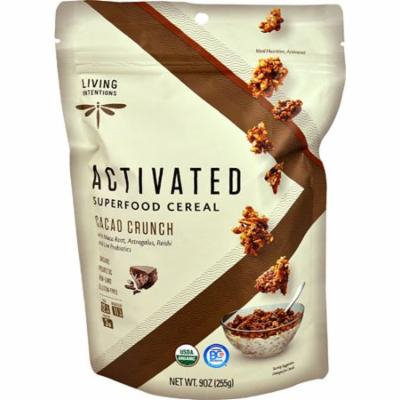 Living Intentions Activated Organic Superfood Cereal Cacao Crunch -- 9 oz pack of 6