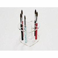 Beauticom Heart Shaped Clear Acrylic Nail Brush Holder