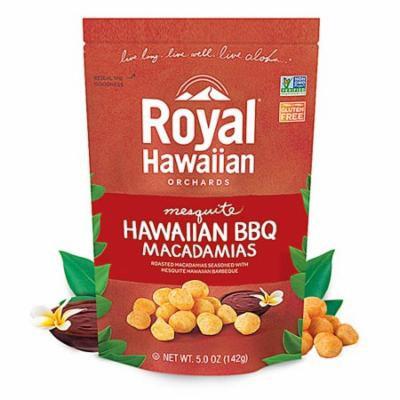 Royal Hawaiian Orchards Macadamias Mesquite Hawaiian BBQ -- 5 oz pack of 4