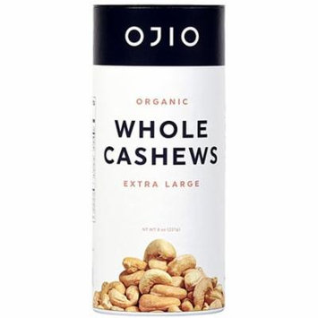 Ojio Gluten Free Organic Whole Cashews -- 8 oz pack of 3