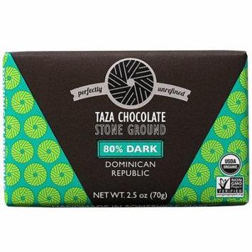 Taza Chocolate Organic Stone Ground Chocolate 80% Dark -- 2.5 oz pack of 6