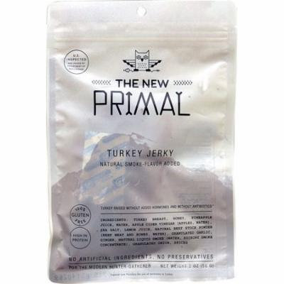 The New Primal Gluten Free Turkey Jerky -- 2 oz pack of 6