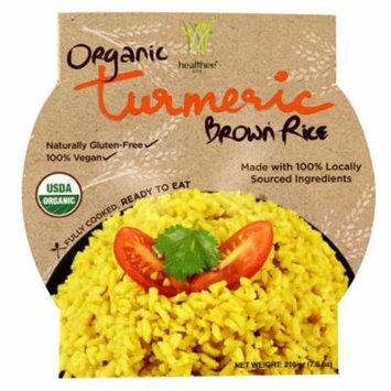 Healthee Organic Brown Rice Bowl Turmeric -- 7.6 oz pack of 12