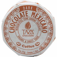 Taza Chocolate Organic Chocolate Mexicano Disc Coffee -- 2.7 oz pack of 4