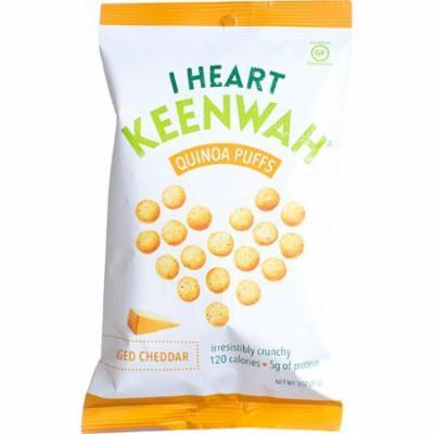 I Heart Keenwah® Quinoa Puffs Gluten Free Aged Cheddar -- 3 oz pack of 4