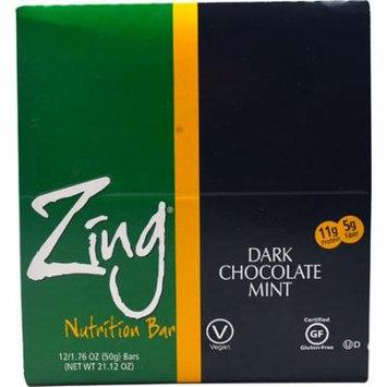 Zing Bars Nutrition Bar Dark Chocolate Mint -- 12 Bars pack of 3