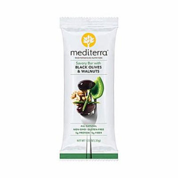 Mediterra Gluten Free Savory Bar Black Olives & Walnuts -- 1.4 oz pack of 12