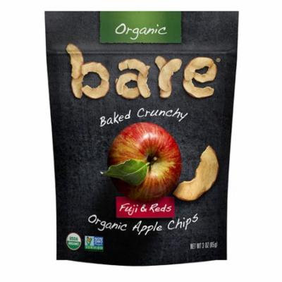 Bare Organic Baked Crunchy Apple Chips Gluten Free Fuji & Reds -- 3 oz pack of 1