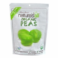 Nature's All Foods Organic Freeze-Dried Peas -- 2.2 oz pack of 1