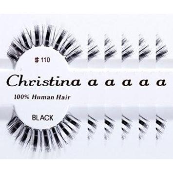Christina 100% Human Hair False Eyelashes (#110-6Pack)