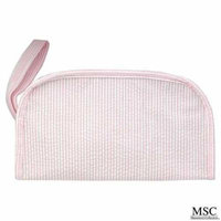 Mainstreet Pink and White Seersucker Kentucky Dopp Kit Toiletries Baby Boy Travel Bag Case