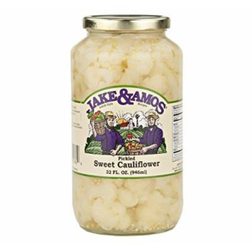 Jake & Amos Pickled Sweet Cauliflower, 32 Oz. Jar (Pack of 2)