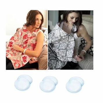 Udder Covers Nursing Cover 2 Pack with 6 Organic Cotton Nursing Pads (Grace & Natalie)