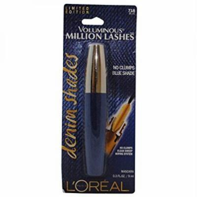 NEW Loreal Limited Edition Voluminous Million Lashes Denim Shades Mascara - 718 Blue