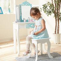 Teamson Kids Fashion Prints Tropical Vanity Table & Stool Set