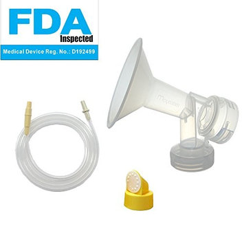 Swing Tubing and Breast Pump Kit for Medela Swing Breastpump. Inc. 1 Medium Breastshield (Comparable to Medela Personalfit 24mm), 1 Valve, 1 Membrane, and 1 Replacement Tubing