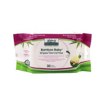Aleva Naturals Bamboo Baby Travel Wipes, 30 Count - Natural Bamboo Wipes - Biodegradable in 21 days - Travel Packs - Eco Friendly