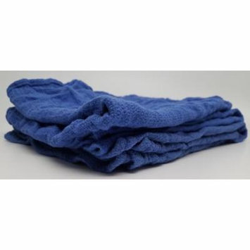 AFFORDABLE WIPERS BULK RECLAIMED BLUE HUCK TOWELS GLASS CLEANING WIPING JANITORIAL LINTLESS SURGICAL 10 LBS - ~ 70 TOWELS