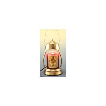 Hurricane Brushed Nickel Candle Warmer Gift Set - Warmer and Candle - SECRET GARDEN
