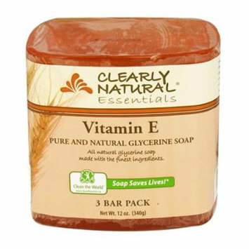 Clearly Natural Glycerine Soap Bar, Vitamin E, 3 Bars, 2 Pack