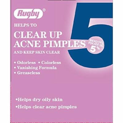 5 Pack - Rugby Acne Medication 5, Benzoyl Peroxide 5%, 1 Oz Each