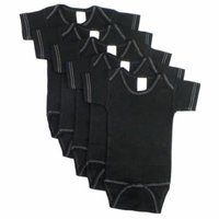 Black Onezie with White Stitch (Pack of 5)