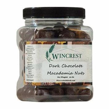 Dark Chocolate Macadamia Nuts - 1.25 Lb (20 Oz) Tub