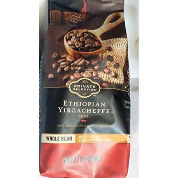 Private Selection Ethiopian Yirgacheffe Whole Bean Coffee 12 oz (Pack of 3)
