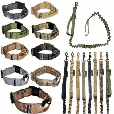 SET of Tactical COLLAR and LEASH Dog Military Army HEAVY DUTY Traning with HANDLE Width 1.5in Plastic Buckle XL: Neck 16