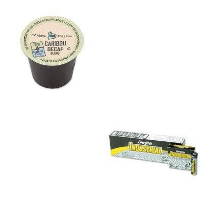 KITEVEEN91GMT6995CT - Value Kit - Green Mountain Coffee Roasters Caribou Blend Decaf Coffee K-Cups (GMT6995CT) and Energizer Industrial Alkaline Batteries (EVEEN91)