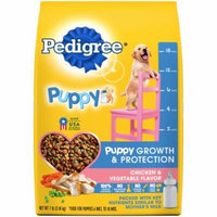 PEDIGREE Puppy Growth and Protection Chicken and Vegetable Flavor Dry Dog Food 7 Pounds