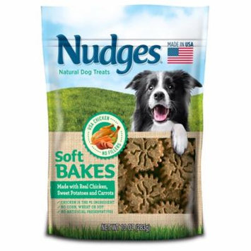 Nudges Soft Bakes with Chicken, Sweet Potatoes and Carrots Dog Treats, 10 oz