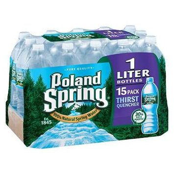 Poland Spring 100% Natural Spring Water (1 L bottles, 15 pk.) (packof 2)