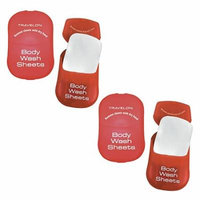 Travelon Body Wash Sheets Red (2-Pack) Body Wash Sheets
