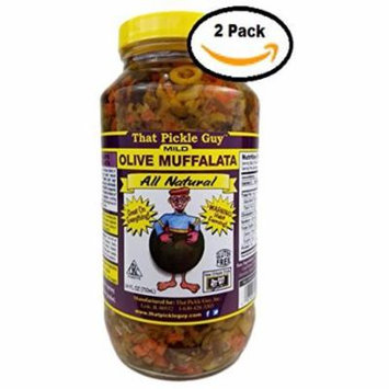 2 Pack Of That Pickle Guy All Natural Mild Muffalata Spread (2 X 24 oz)